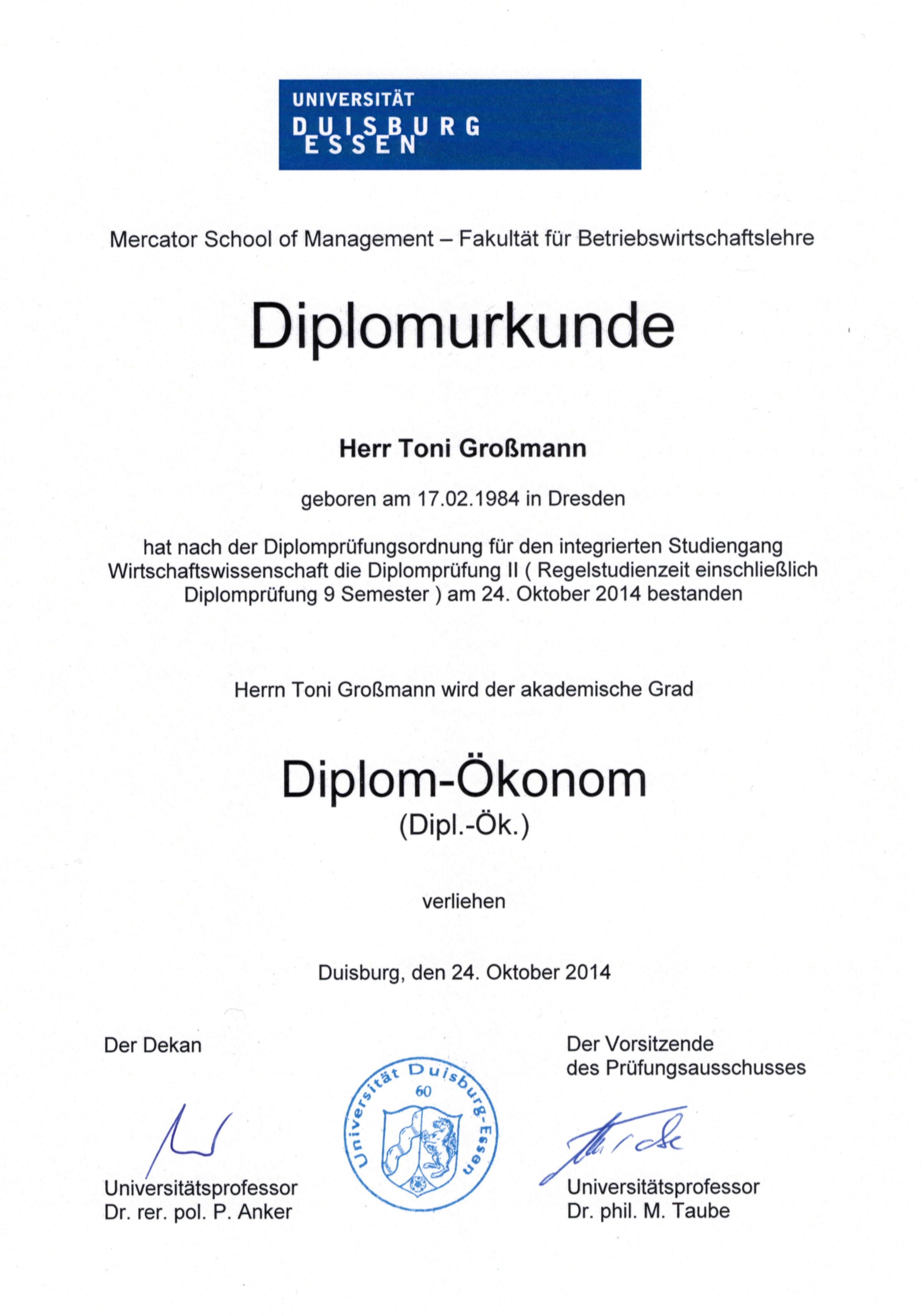 Charmant Lebenslauf Diplom Student Ideen - Beispiel Business ...