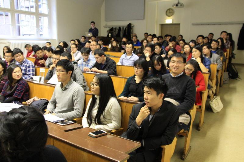 Viel Gründungswille und/oder -interessierte Studenten aus China an der TU Dresden.